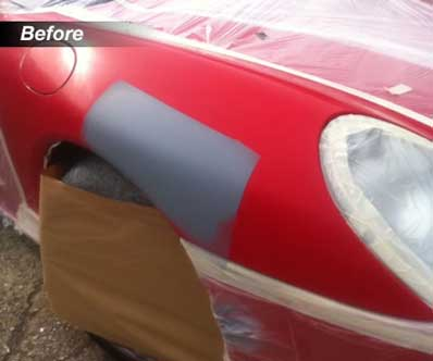 Paint Repair To Porsche Top Marque Repairs