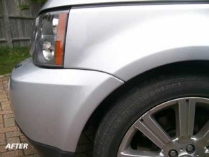 Paint scuff repair range rover