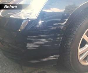 Bumper Scuff Black Car