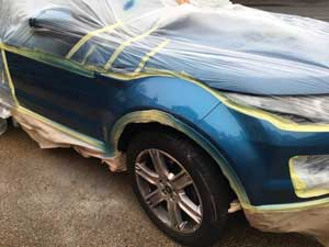 Car Paint repair on Range Rover Evoque in Worthing